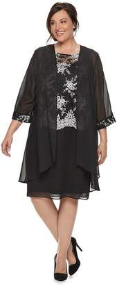 c4d2d2ec883 Le Bos Plus Size Sequin Dress   Jacket Set
