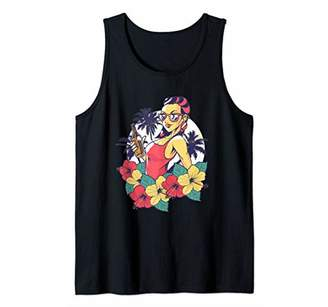 Woman on a summer vacation holding a beer Tank Top