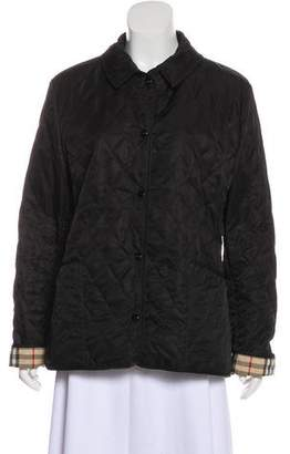 Burberry Quilted Nova Check-Lined Jacket
