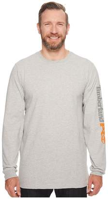 Timberland Base Plate Blended Long Sleeve T-Shirt with Logo - Tall Men's Clothing