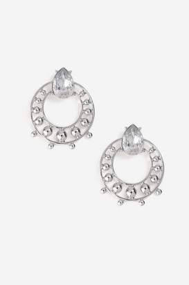 Topshop **Rhinestone Circle Stud Earrings