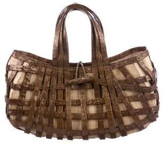 Nancy Gonzalez Woven Crocodile Bag
