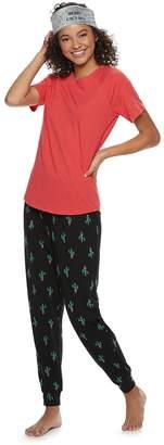So Juniors' SO 3-piece Tee, Jogger & Headband Pajama Set