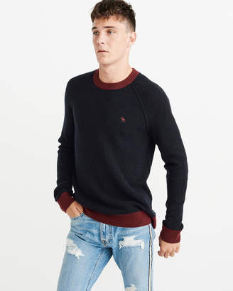 Abercrombie & Fitch Cashmere Colorblock Waffle Sweater