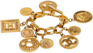 One Kings Lane Vintage Chanel Oversize Charm Bracelet - 1993