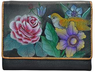 Anuschka Hand Painted Rfid Blocking Small Flap French Wallet