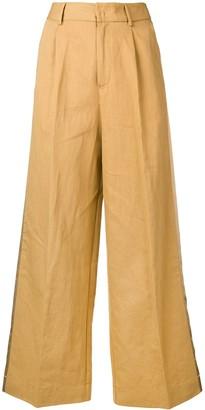 Forte Forte side panel wide leg trousers