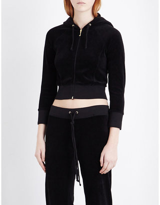 Juicy Couture Cropped velour hoody $189 thestylecure.com