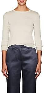 Barneys New York Women's Metallic Silk-Blend Crewneck Sweater - Beige, Tan