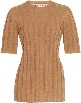 Marni Ribbed Wool-Blend Sweater