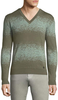 Versace V-Neck Ombre Wool Sweater