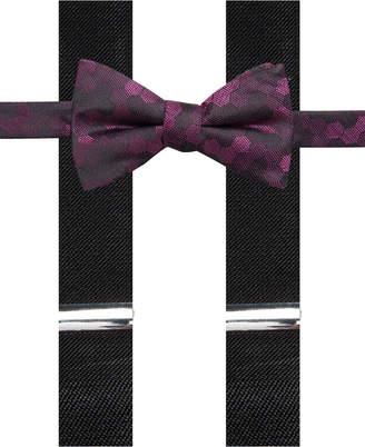 Alfani Men's Geometric Pre-Tied Bow Tie & Suspender Set
