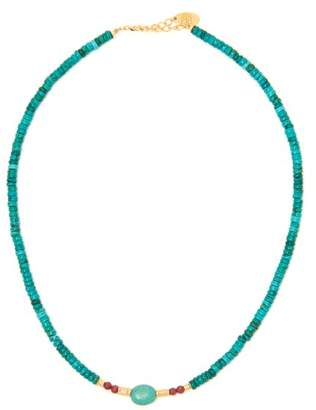 Elise Tsikis - Elyes Beaded Necklace - Womens - Green