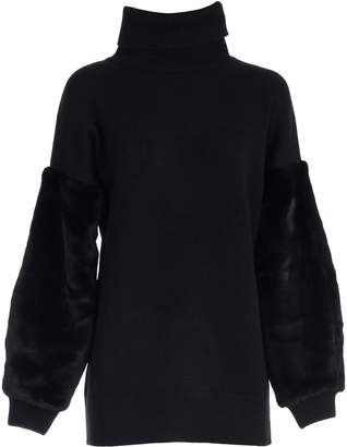 MICHAEL Michael Kors Sweater Turtle Neck W/faux Fur Sleeve