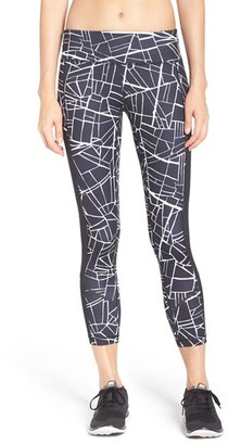 Women's Zella 'Fly By' Print Running Midi Tights $69 thestylecure.com