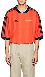 Gosha Rubchinskiy X adidas Men's Logo Striped Oversized Jersey-Red