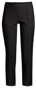 Piazza Sempione Women's Geo-Print Cropped Pants - Black - Size 48 (12)