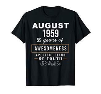 August 1959 59th years Maturity Wisdom Birthday Gift Shirt