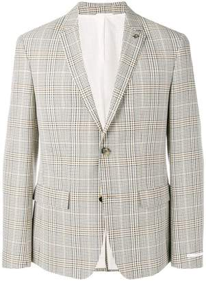 Calvin Klein tartan pattern blazer