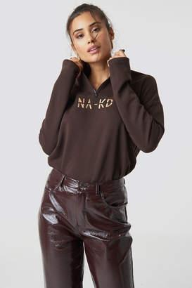 NA-KD Na Kd Front Zipper Sweatshirt Black
