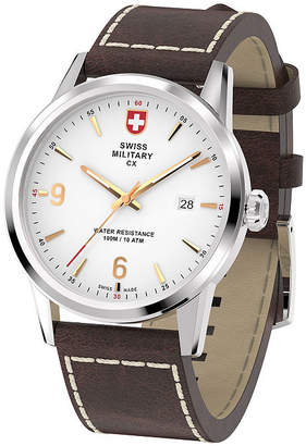 Swiss Military BY CHARMEX By Charmex Officer Mens Brown Strap Watch-78346_4_C