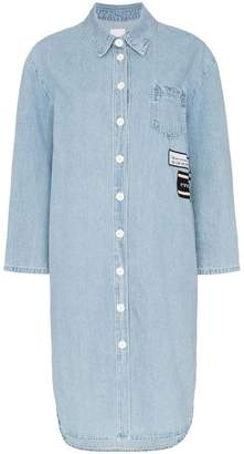 Sjyp button detail denim shirt dress