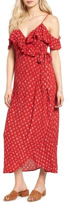 Women's Band Of Gypsies Foulard Cold Shoulder Dress $79 thestylecure.com
