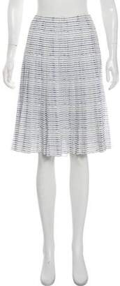 Vince Striped Pleated Skirt