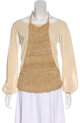 Loewe Long Sleeve Knit Overlay Top