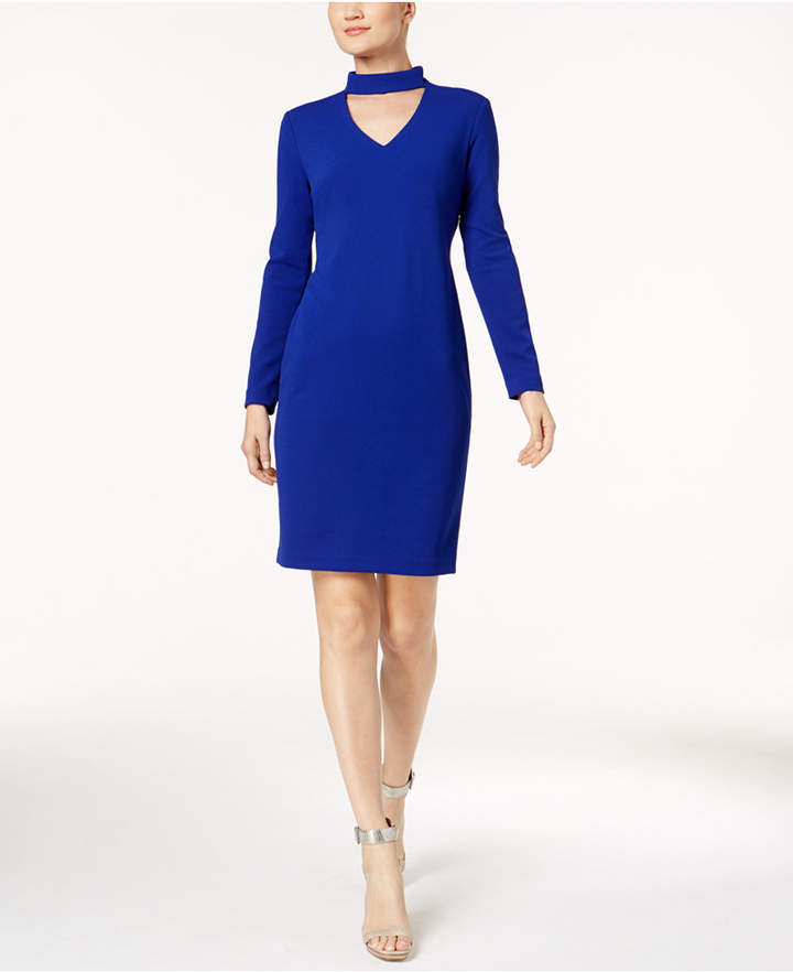 Calvin Klein Choker Sheath Dress, Regular & Petite