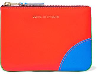 Comme des Garçons - Neon Leather Wallet - Green $105 thestylecure.com