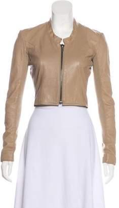 Veda Leather Crop Jacket