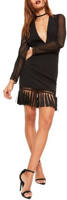 Women's Missguided Tassel Hem Body-Con Dress $103 thestylecure.com