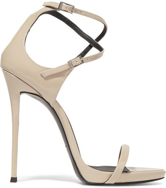 Giuseppe Zanotti - Patent-leather Sandals - Blush $775 thestylecure.com