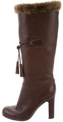 Viktor & Rolf Leather Round-Toe Boots