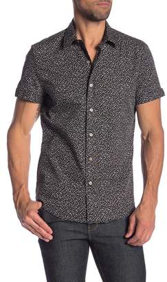 Parke & Ronen Biscayne Short Sleeve Printed Slim Fit Shirt