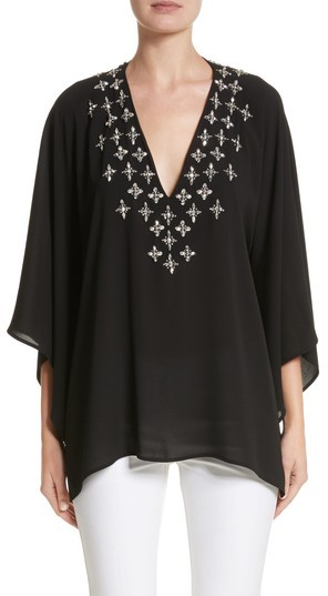 Women's Michael Kors Jeweled Silk Tunic