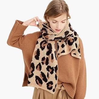 J.Crew DemyleeTM X leopard-print scarf