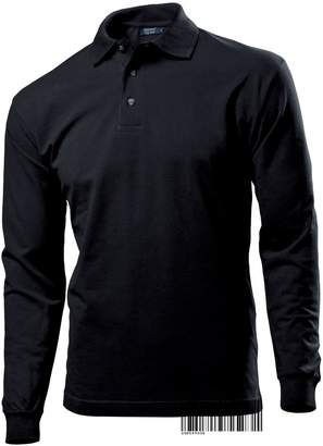 Underhood of London Long Sleeve Plain Polo T-shirt for Men - Regular Fit 100% Cotton Hanes Top Polo