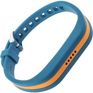 Fitbit Blackweb Replacement Band With Steel Buckle For Flex 2, Blue/Orange