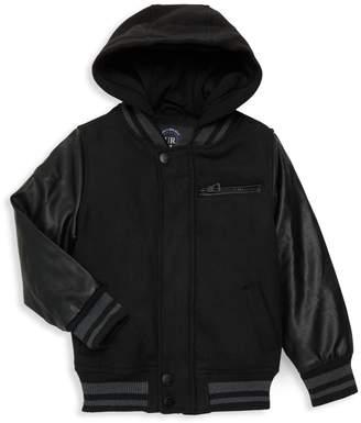 Urban Republic Little Boy's & Boy's Faux Leather Sleeve Hooded Jacket