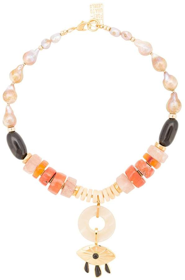 Lizzie Fortunato capri evil eye necklace