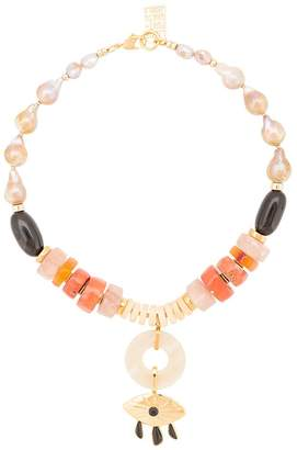 Lizzie Fortunato capri evil eye necklace