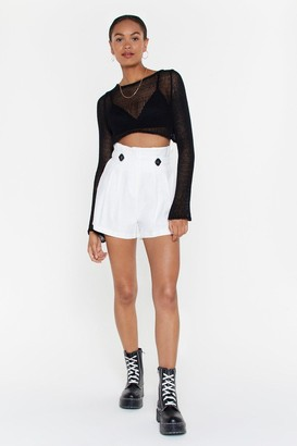 Nasty Gal Front Page News Paperbag Relaxed Shorts