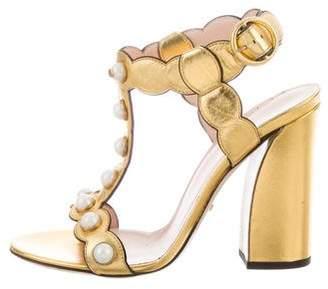 Gucci Willow Pearl Trim Sandals