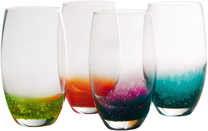 Artland ARTLAND Fizzy Set of 4 Highball Glasses