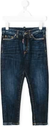 DSQUARED2 washed five pocket jeans