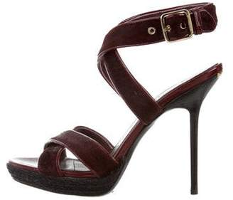 Burberry Round-Toe Platform Sandals