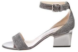 Jimmy Choo Edina Metallic Sandals