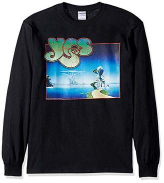 Liquid Blue Unisex-Adult's Plus Size YES Yessongs Album Cover Long Sleeve Grapic TEE